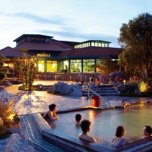 Polynesian Spa. Thermal hot springs and health spa. Rotorua, New Zealand